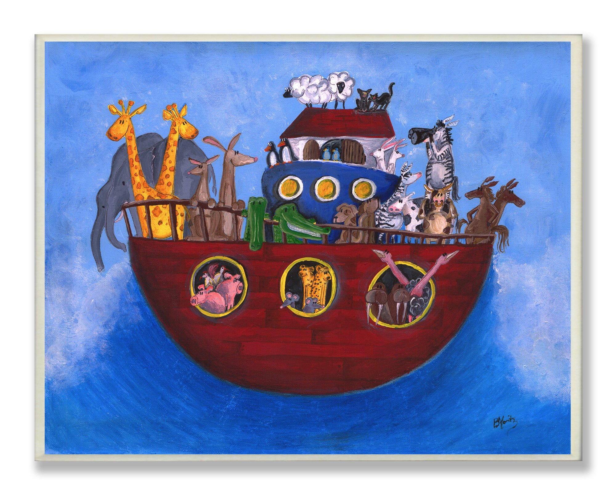 The Kids Room by Stupell Noah's Ark Rectangle Wall Plaque, 11 x 0.5 x 15, Proudly Made in USA
