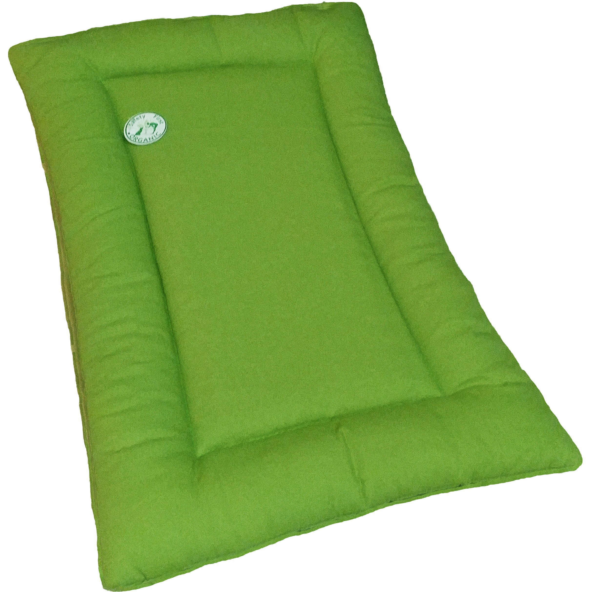Sit. Stay. Forever. Dog Bed, Hypoallergenic, Organic Cotton Duck Pet Landing Pad / Travel Mat. Made in the USA. (X-Small (19'' x 15''), Avocado) by Sit. Stay. Forever. (Image #1)