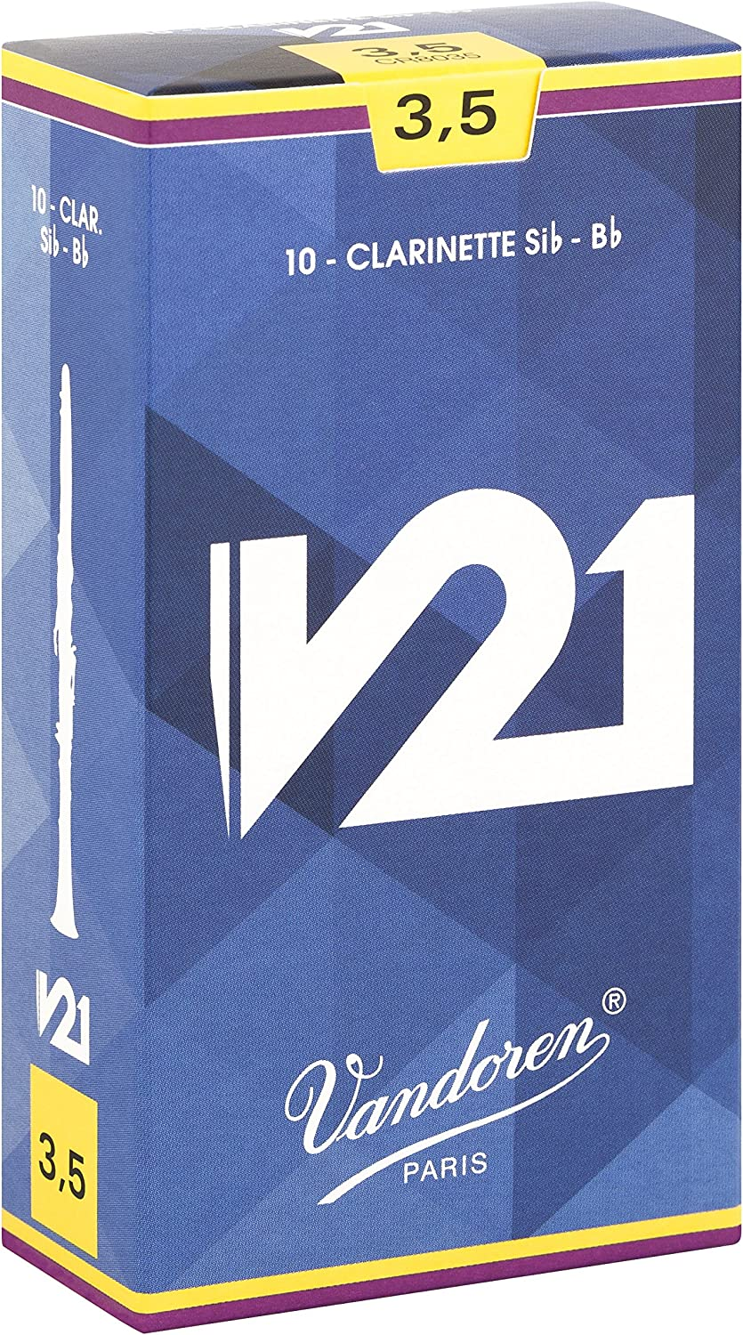 Vandoren CR8035 Bb Clarinet V21 Reeds Strength 3.5; Box of 10