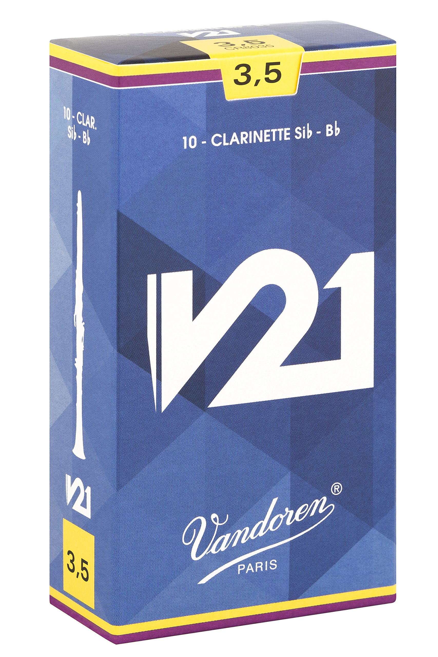 Vandoren CR8035 Bb Clarinet V21 Reeds Strength 3.5; Box of 10 by Vandoren (Image #1)
