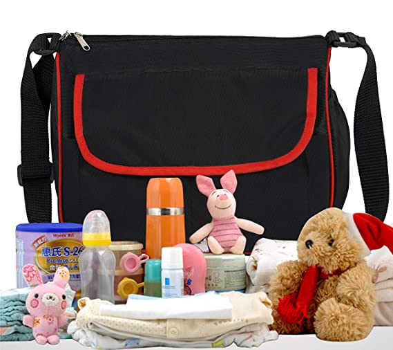 SEPAL Polyester Diaper Nappy Baby Product Holder Mother Baby Bag for Travel 15L 35 x 15 x 30 cm Black