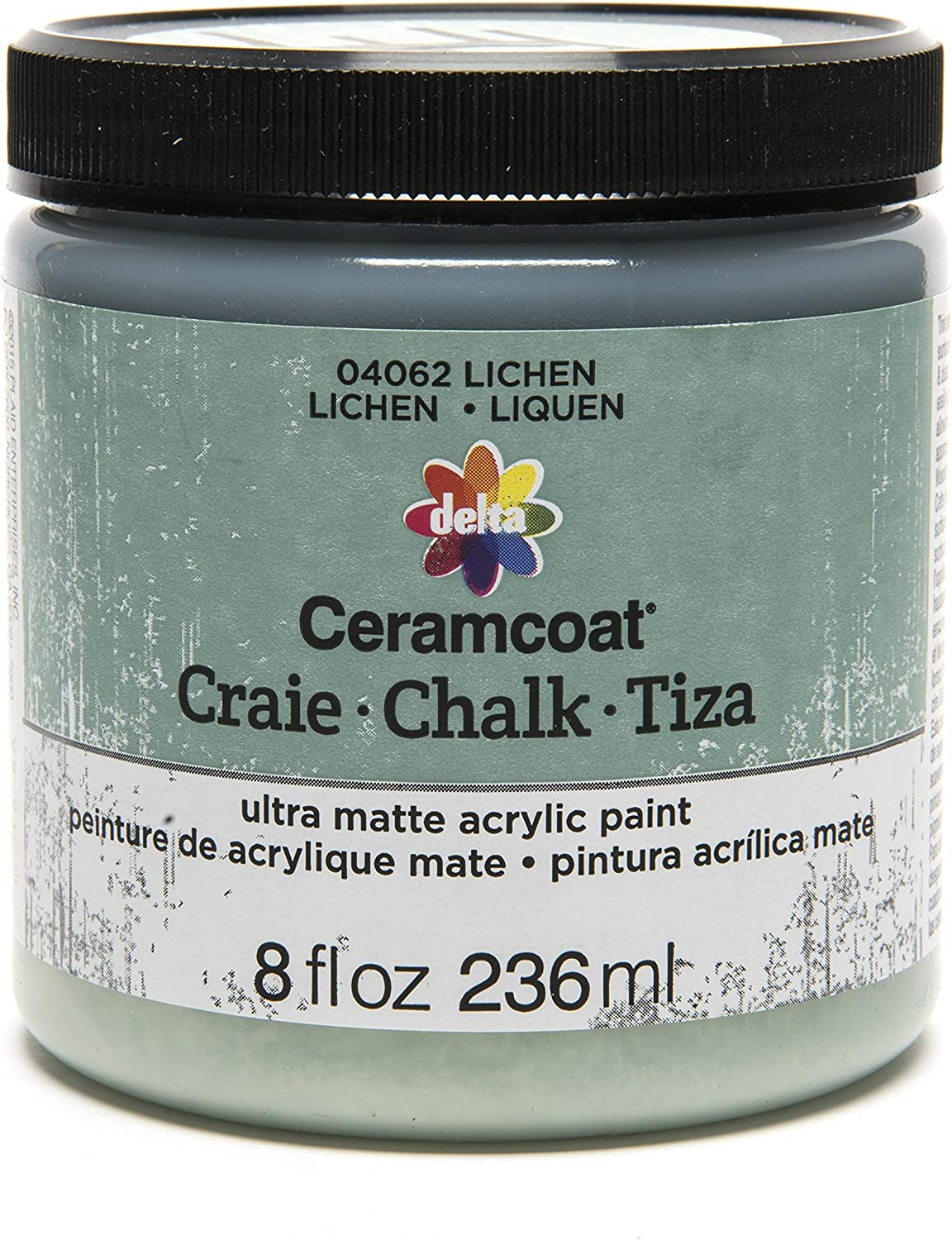 Delta Creative Ceramcoat Ultra Matte Chalk Furniture & Craft Paint in Assorted Colors (8 Ounce), Lichen
