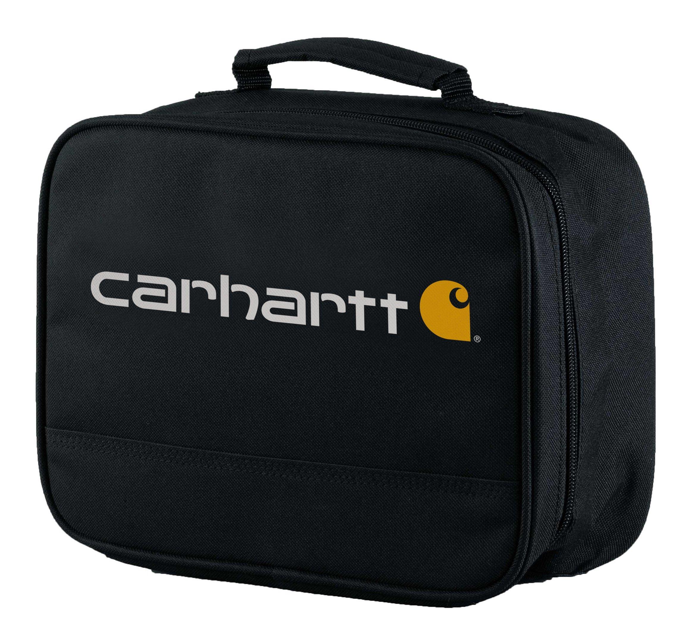 Carhartt Kids' Insulated Soft-Sided School Lunchbox, Black