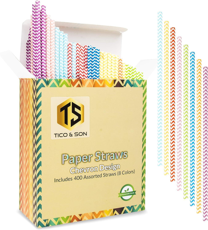 RETRO WHITE PREMIUM BIODEGRADABLE  PAPER STRAWS PACK OF 1000