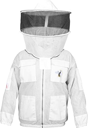 3 Layer Ultra Ventilated Bee Beekeeper Beekeeping Suit Fencing Veil Large size