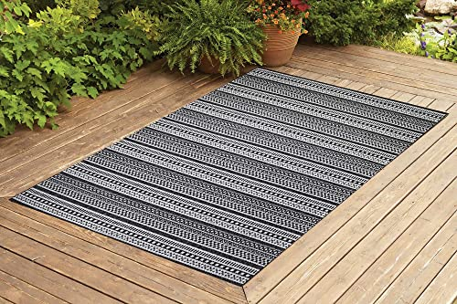 Benissimo Indoor Outdoor Rug Stripes Collection Non-Skid