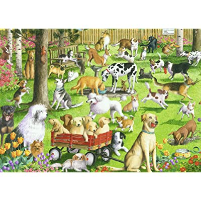 Ravensburger at The Dog Park Large Format 500 Piece Jigsaw Puzzle for Adults – Every Piece is Unique, Softclick Technology Means Pieces Fit Together Perfectly: Toys & Games