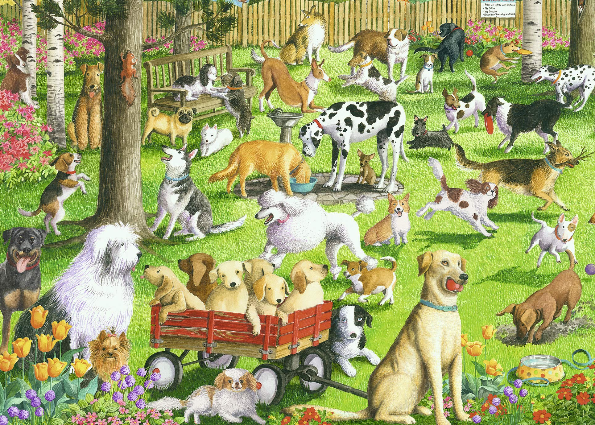 Ravensburger at The Dog Park Large Format 500 Piece Jigsaw Puzzle for Adults – Every Piece is Unique, Softclick Technology Means Pieces Fit Together Perfectly