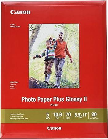 8.5 x 11 Inches New Satin Finish 20 Sheets Canon Photo Paper Plus Semi-Gloss