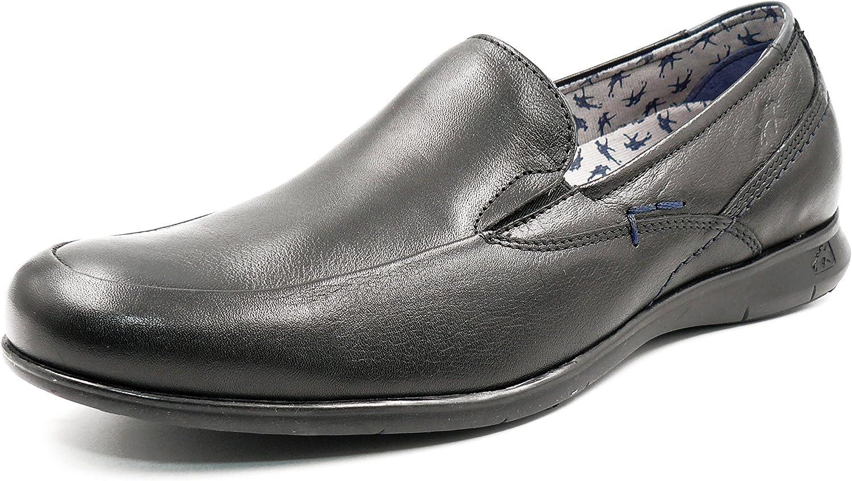 Zapatos De Sport Mocasines Fluchos 9762 Negro