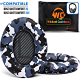 Wicked Cushions Premium Bose QC35 Ear Pads - Compatible with Bose QuietComfort 35 & 35 ii   Snow Camo