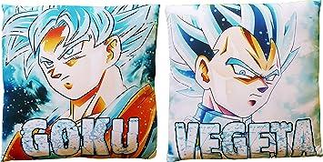 Goku Vegeta SSJ Cubierta de Funda de Almohada Azul sólo ...