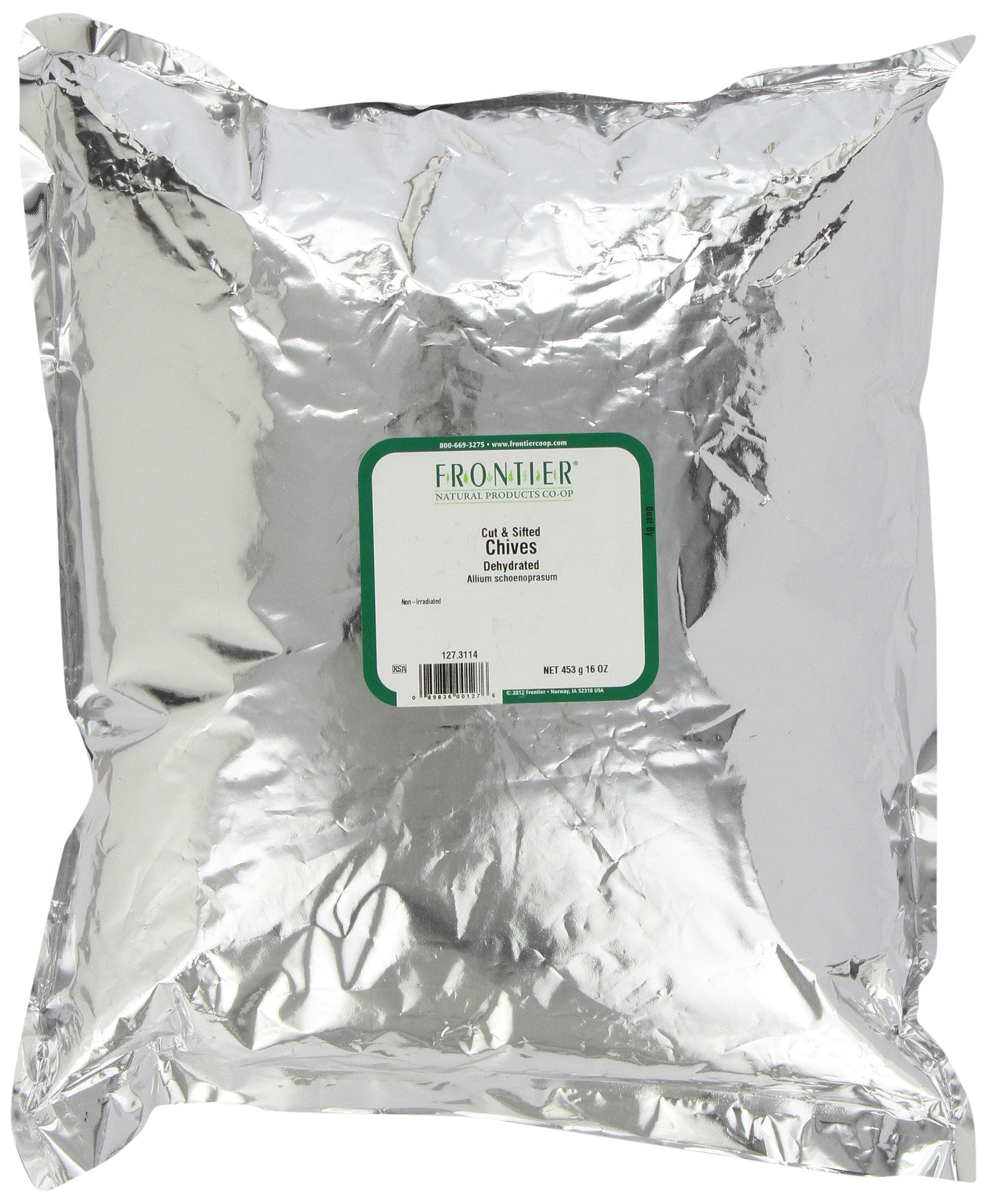 Frontier Chives, Dehydrated, C/s, 16 Ounce Bag