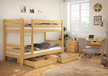 Etagenbett Holz Günstig : Erst holz teilbares etagenbett massivholz kiefer