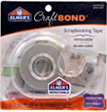 Elmer's E4005 CraftBond Double Sided Scrapbooking Tape, Removable, 1/2-Inch by 300-Inch, Clear