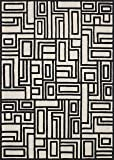 "Now House by Jonathan Adler Blocks Collection Area Rug, 2'3"" x 3'9"", Ivory and Black"