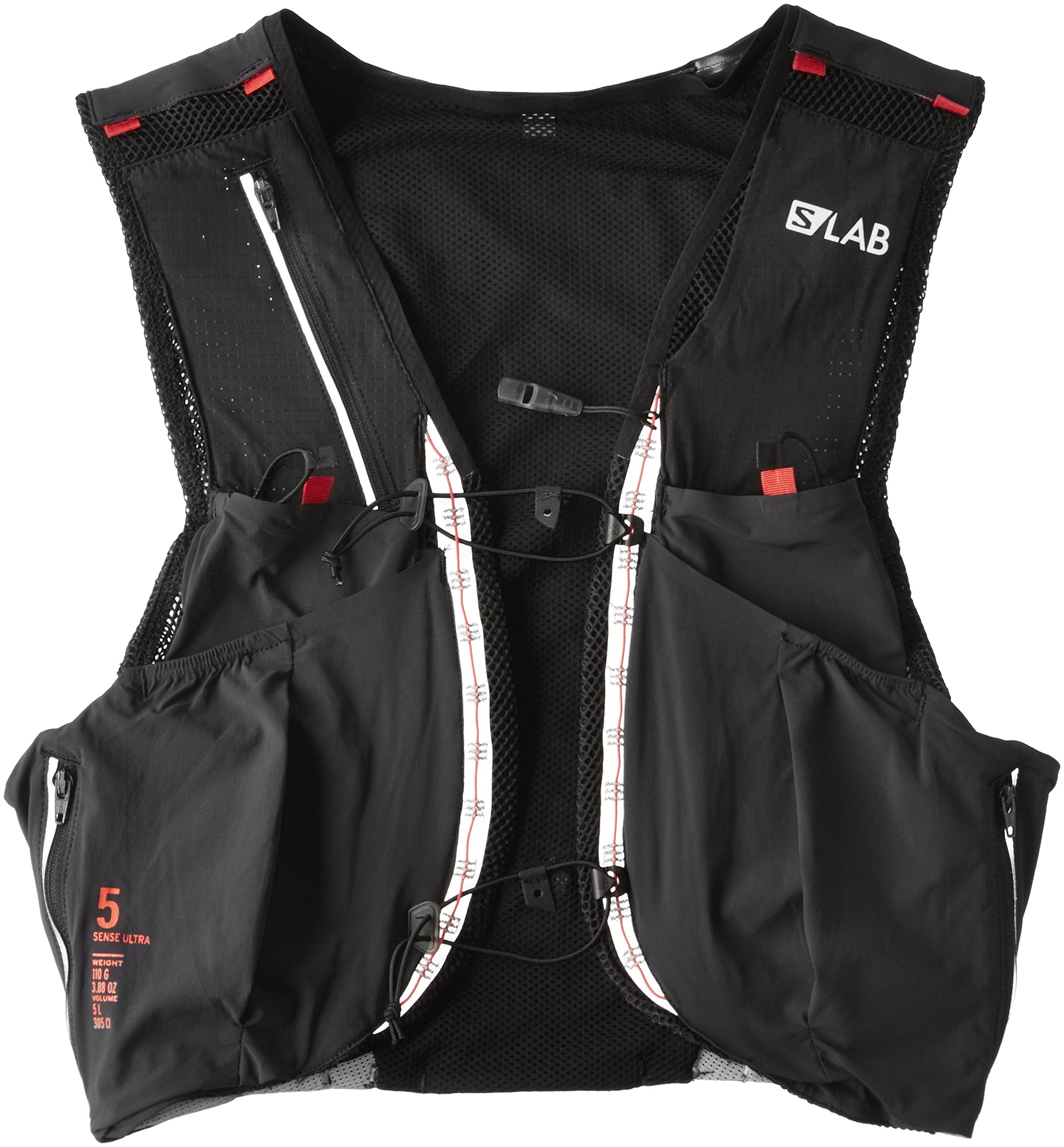 Salomon Unisex S-Lab Sense Ultra 5 Set Backpack, Black, Racing Red, S