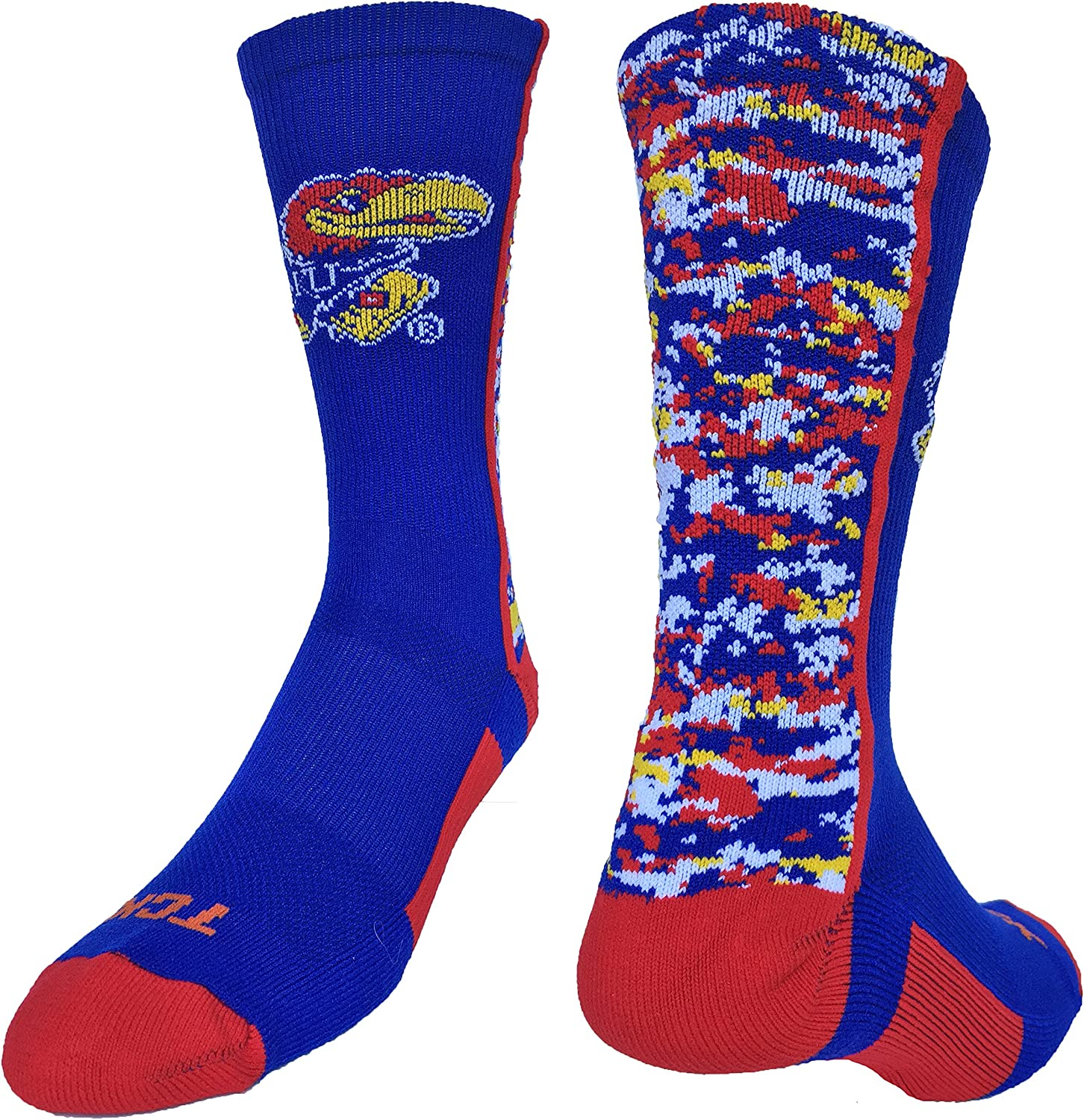 TCK Kansas Jayhawks Socks Digital Camo Crew