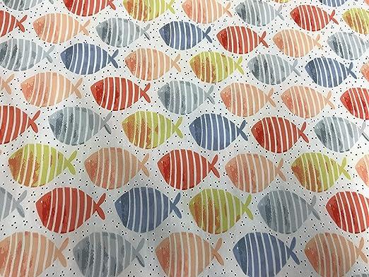 telas de peces multicolor 100% algodón 1 metro x 150 cms.: Amazon ...