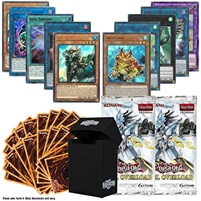 Totem World Legendary Bundle: 10 Ultra Rare and 100 Yugioh Cards with 2 Duel Overload Booster Packs & Deck Box: Toys & Games