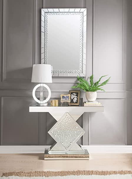 Merveilleux ACME Furniture 90068 Nysa Console Table, Mirrored