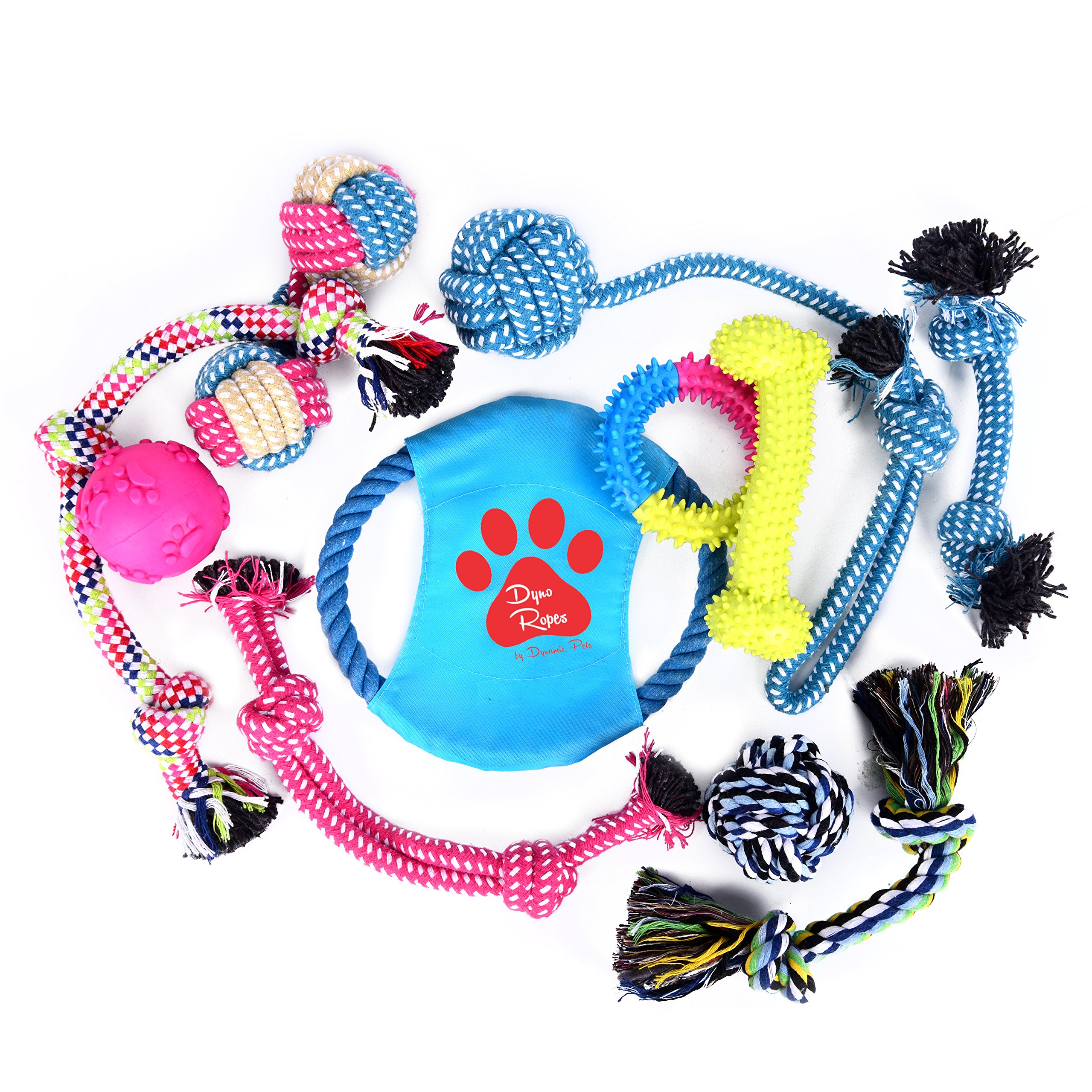 Dyno Ropes Dog Toys Variety Pack (11- Pack)
