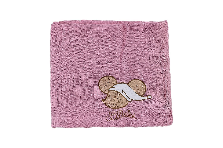 Farbe Rosa Vorteilspack von Steinbeck Baby Mullwindel 2er Pack Lillebi Spuckt/ücher f/ür M/ädchen Baumwolle