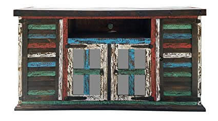 Hiend Rustic Medieval Western Antique Distressed Reclaimed Wood Look TV  Stand Conchos Solid Wood Already Assembled - Amazon.com: Hiend Rustic Medieval Western Antique Distressed