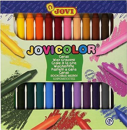 Jovicolor 980 - Ceras, caja de 24 unidades: Amazon.es: Oficina y papelería
