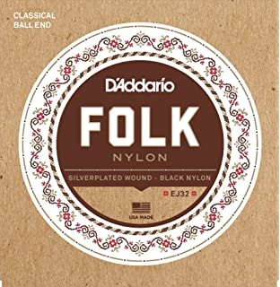 3-Pack DAddario EJ32 Folk Nylon, Ball End, Silver Wound/