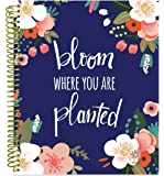"""bloom daily planners 2018 Calendar Year Soft Cover Vision Planner - Monthly/Weekly Datebook Agenda Organizer- January 2018 - December 2018 - (7.5"""" x 9"""") - Bloom Where You Are Planted"""