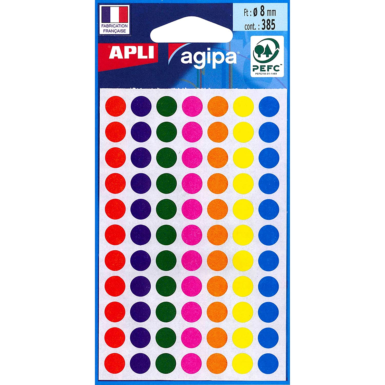 Agipa 100624contrassegno punti, diametro: 8mm, rotondo, colorato