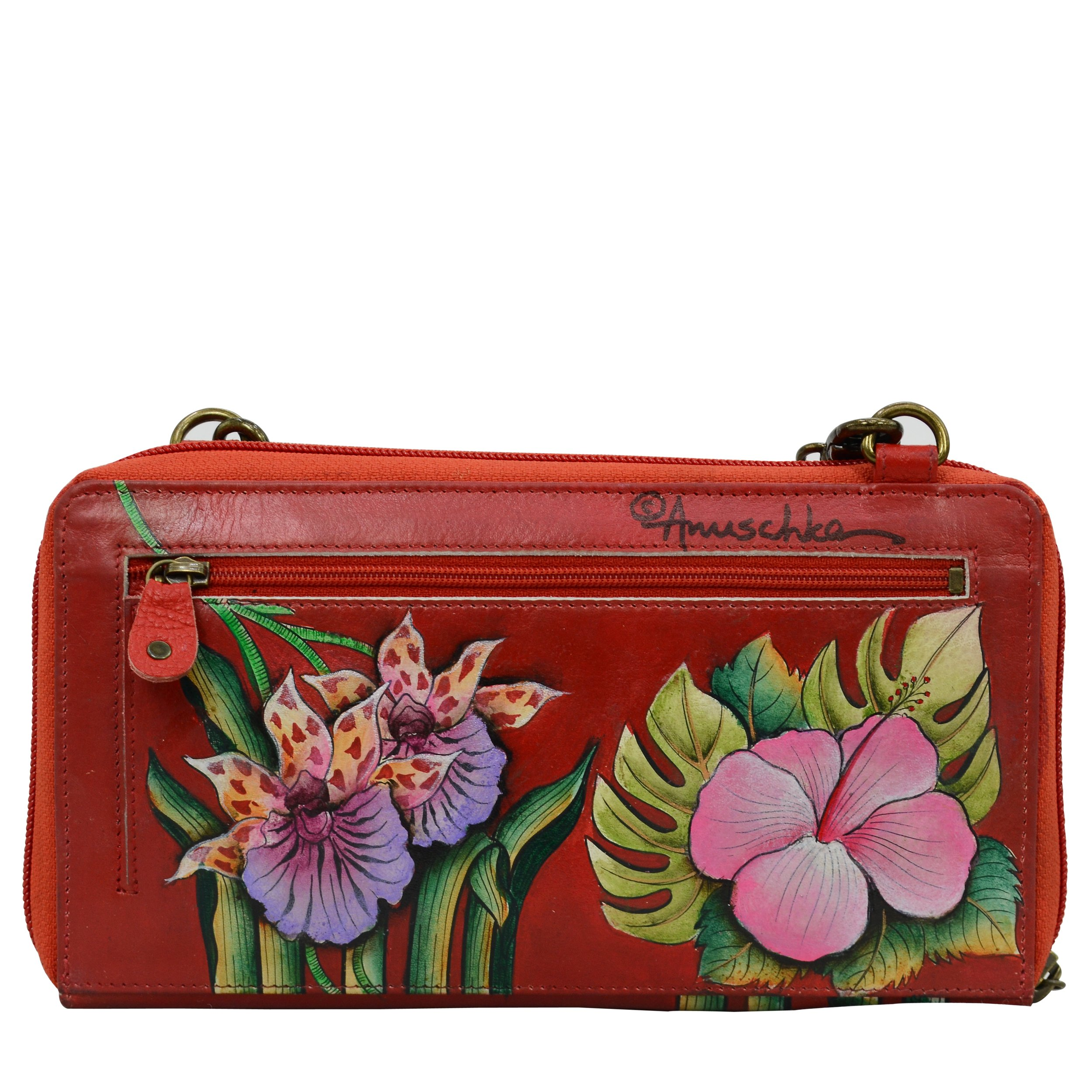 Anuschka Hand Painted Leather Women'S Zip Around Rfid Crossbody Clutch, Island Escape by Anna by Anuschka (Image #2)