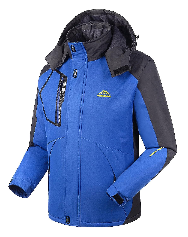 4HOW Snow Jacket Sport Winter Coats For Men Rain Jackets Waterproof With Hood