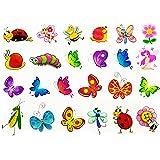 Oblique-Unique® Schmetterling Tattoo Set 48 Stück Kindertattoos Tattoo verschiedene Motive Kinder Spielen