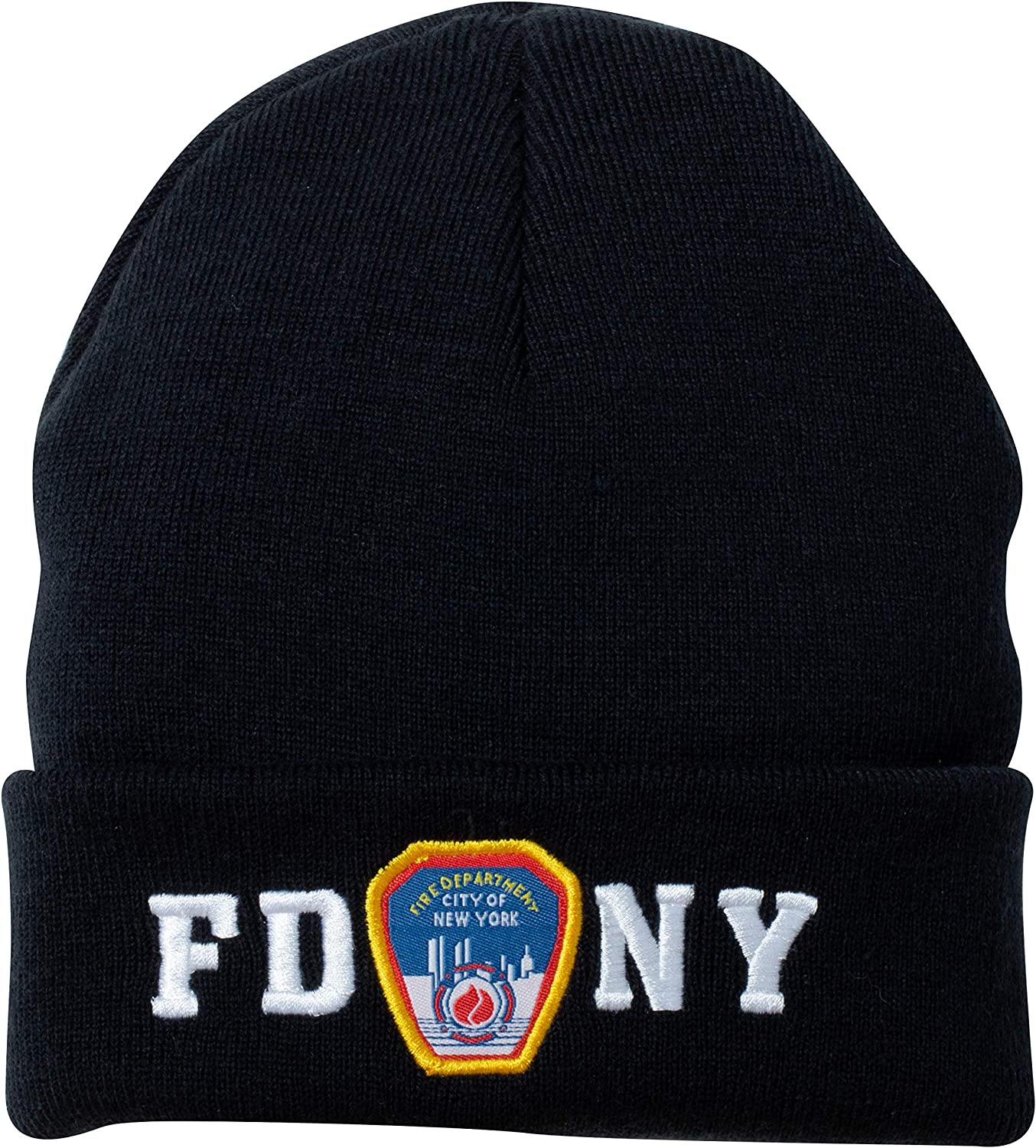 FDNY Winter Hat Fire Department Of New York City Navy /& White One Size Beanie NY