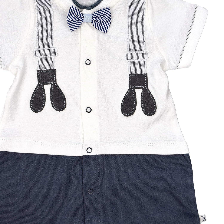 twetoon Baby Strampler Jungen Overall kurz Einteiler festlich Festoverall Outfit Kleinkind Body Erstlingskleidung Babyanzug Neugeborenen Anzug Jumpsuit Sommer-Outfit