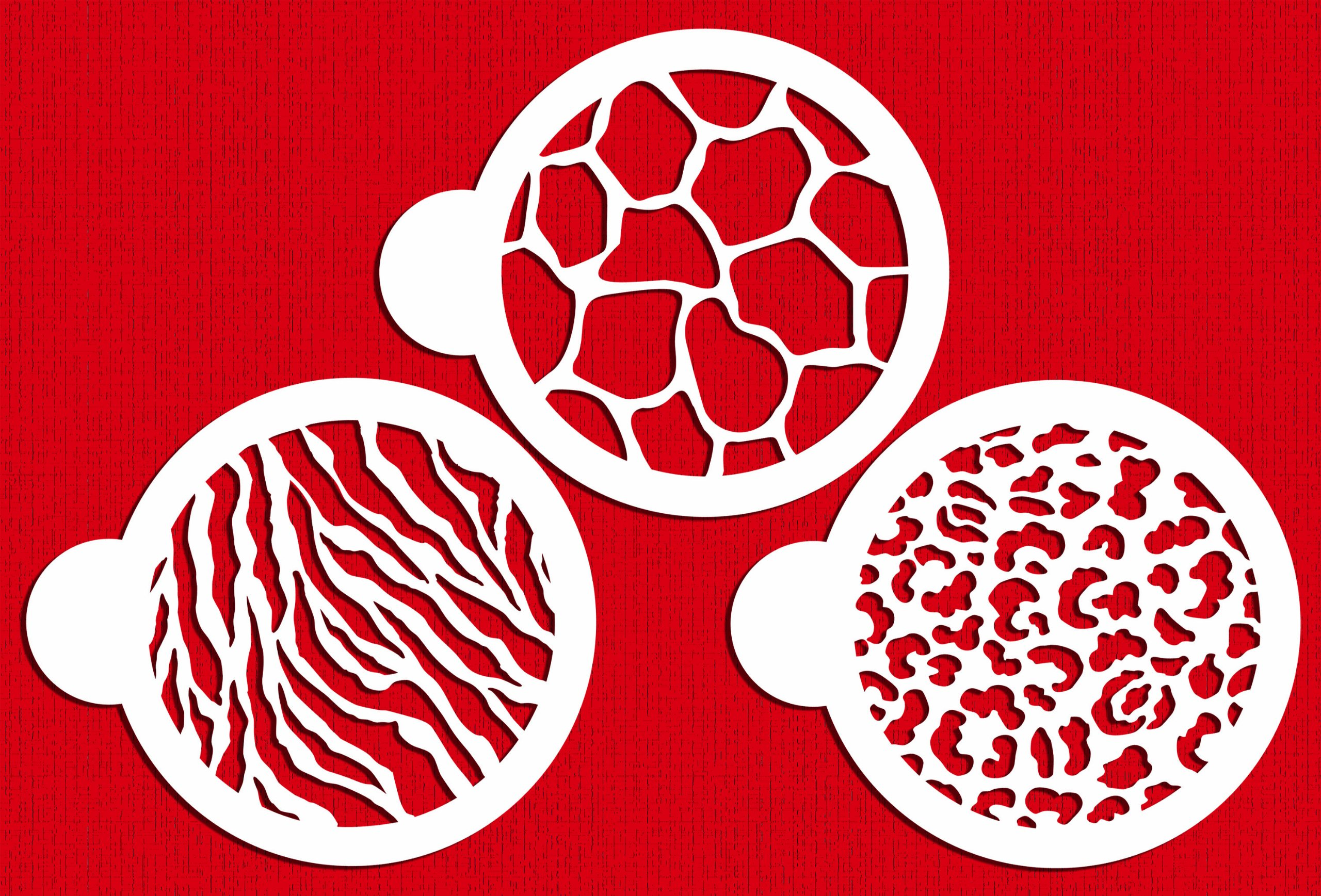 Designer Stencils C473 Cookie Stencil Animal Skins, 4-Inch, Beige/Semi-Transparent
