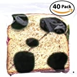 Witty Yeti Fake Mold Sandwich Bags 40 Pack to Protect Your Hoagie! Each Anti-Theft, Food-Safe Zipper Bag Looks Moldy to Ward Off Work Fridge Raiders! Hilarious Lunch Prank or Gag Gift for Men or Kids!