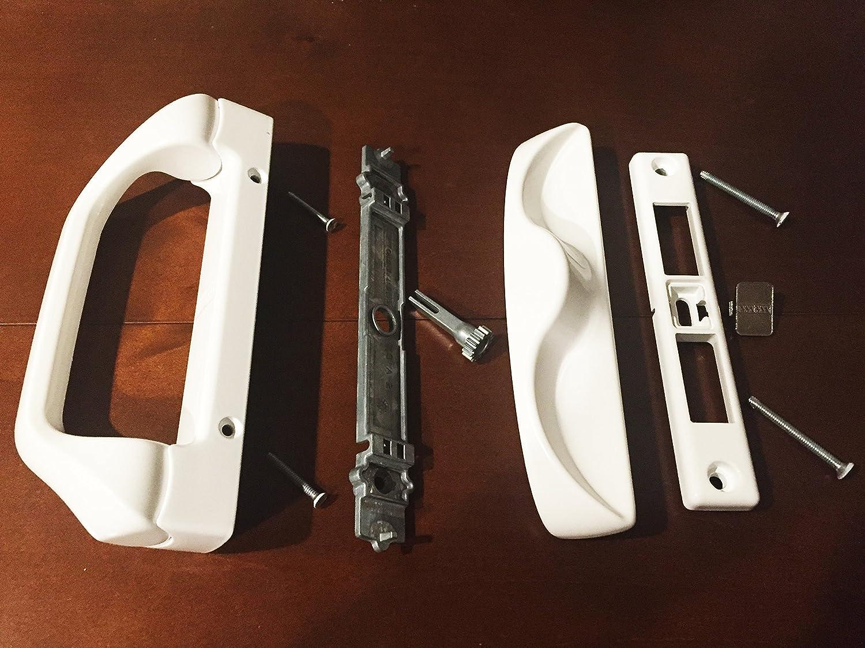 Sliding Patio Door Handle Set for Milgard, White K0-LZ92-0XH0 ...
