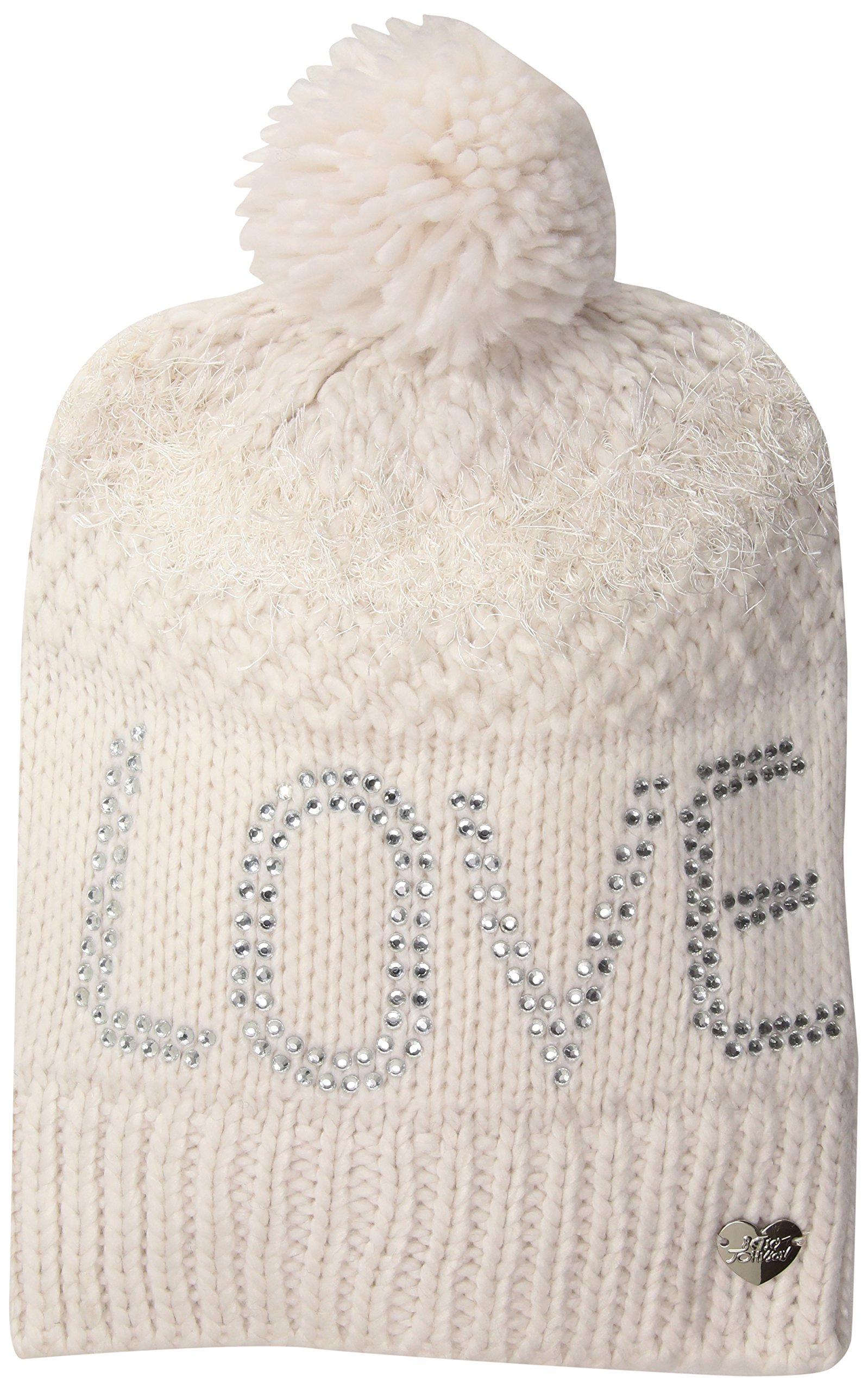 Betsey Johnson Women's Love Beanie, Ivory, One Size