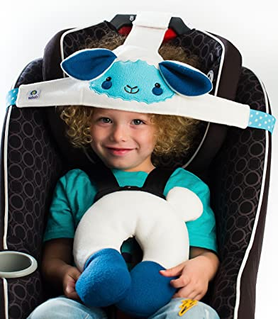 NoBob Child Car Seat Head Support Travel Pillow Safe And Cozy Sleep Solution For