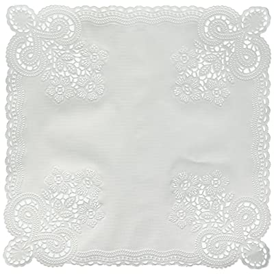 amscan White Square Doilies | 10.50"