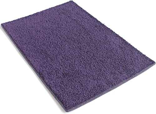Koeckritz 9 x12 Purple 25.5 oz 1 2 Thick Plush Cut Pile Indoor Carpet Area Rug