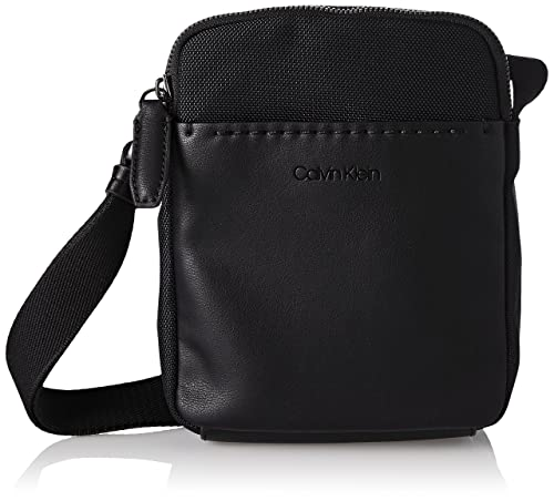 d60d17ecc3f Calvin Klein Jeans Multi Task Mini Reporter, Men's Shoulder Bag, Black,  4x20x16 cm