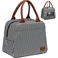 Lunch Bag, Bagseri Insulated Lunch Box for Women and Men, with Transparent Phone Holder Pocket, Reusable Lunch Cooler…