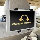 iPad Car Mount, Gear Beast Universal Headrest Tablet Mount Holder for 7 to 10.2 inch Tablets including Apple iPad Pro, iPad 2/3/4, iPad Air, iPad Mini, Galaxy Tab/Tab S/Note Pro, Nabi, Nexus