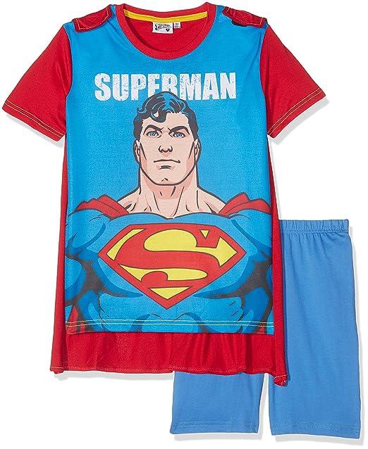 Superman 79673, Conjuntos de Pijama para Niños, Azul (Bleu), 10 años