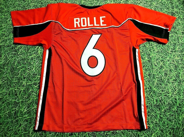 Amazon.com: ANTREL ROLLE ORANGE MIAMI CUSTOM STITCHED NEW FOOTBALL ...