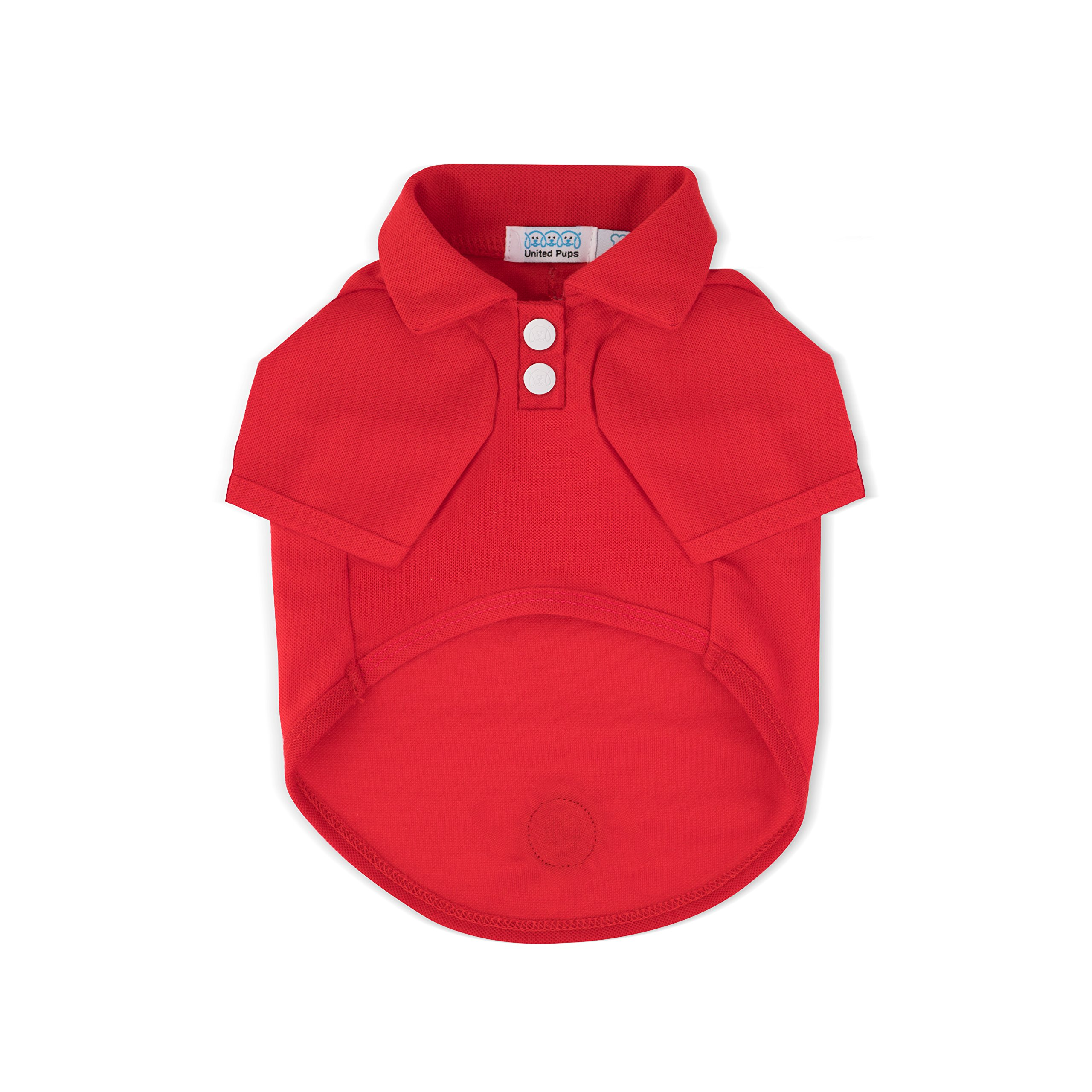 Dog Polo Shirt (Cool Pups Red, Size 2)